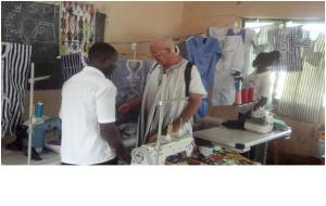 Patrick in the Sandema shop