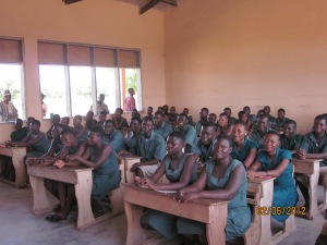 pupils in class Paga Com SHS