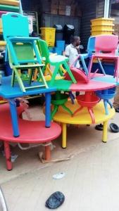Ahmadiyya July 2017 plastic tables and chairs