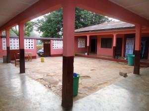 Kenyasi no 2 teachers' quarters the courtyard